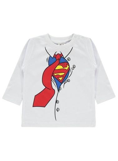 Superman Sweatshirt Beyaz